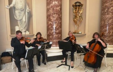 Cotswold Ensemble's String Quartet wedding & reception music at Stowe School, Bucks (N.T.) 2016