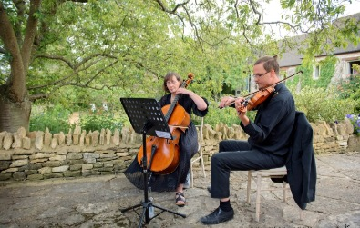 Cotswold Ensemble's String Duo: wedding & reception at the Bay Tree Hotel, Burford