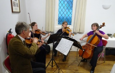Cotswold Ensemble String Duo Wedding Music at Cassington Church, Eynsham, Oxon