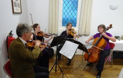 Cotswold Ensemble Tango Quartet, exhibition, South Hinksey, Oxon