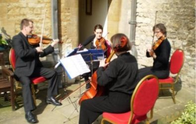 Cotswold Ensemble String Quartet wedding music at Lincoln College, Oxford