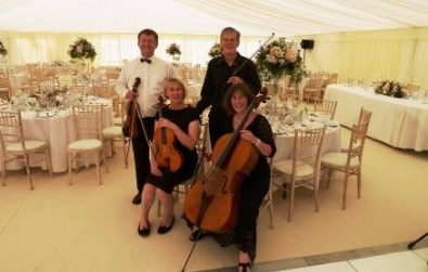 Cotswold Ensemble String Quartet reception music at Green Templeton College, Oxford, 2015