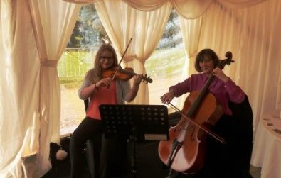 Cotswold Ensemble String Duo music at Bo Peep Farm, Adderbury, Oxfordshire