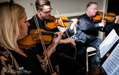 Cotswold Ensemble String Quartet wedding music at Elmore Court, Gloucestershire
