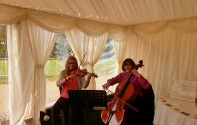 Cotswold Ensemble String Duo music, Bo Peep Farm, Adderbury, Oxfordshire