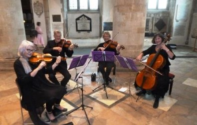 Cotswold Ensemble String Quartet wedding at Christ Church cathedral, Oxford