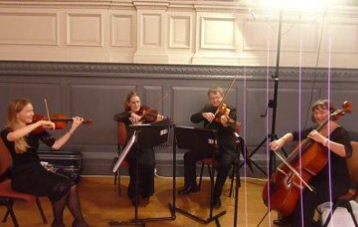 Cotswold Ensemble String Quartet conference reception at the Sheldonian Theatre, Oxford