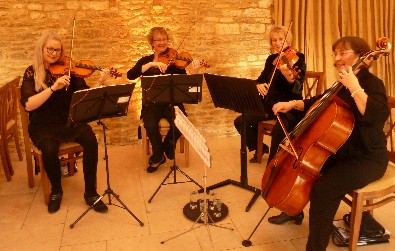 Cotswold Ensemble's String Quartet at Caswell House, Witney, Oxon