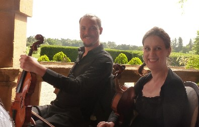 Cotswold Ensemble String Quartet at Eynsham Hall, August 2016, Oxon