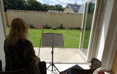 Cotswold Ensemble String Duo, birthday music, Stow on the Wold, 2020