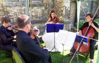 Cotswold Ensemble String Quartet at an Oxford College Wedding
