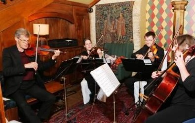 Cotswold Ensemble String Quartet wedding music at the Bay Tree Hotel, Burford, Oxon