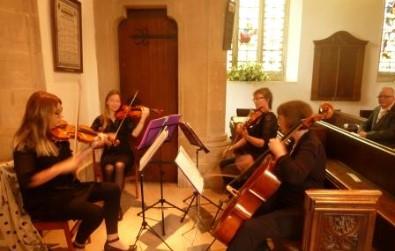 Cotswold Ensemble's String Quartet at Bremhill church, nr. Calne, Wilts