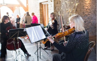 Cotswold Ensemble's String Quartet wedding music at Bibury, Gloucestershire