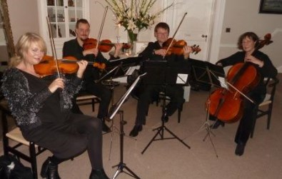 Cotswold Ensemble String Quartet reception music at Foxhill Manor, Broadway, Worcs.