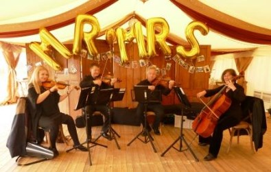 Cotswold Ensemble' String Quartet at Gt Wolford, nr Moreton in Marsh, Gloucestershire