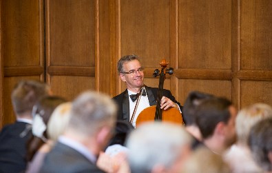 Cotswold Ensemble solo cellist at Oxford Town Hall, October 2015