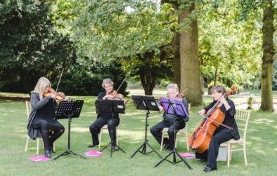 Cotswold Ensemble String Quartet, wedding, Eastington Park, Glocs