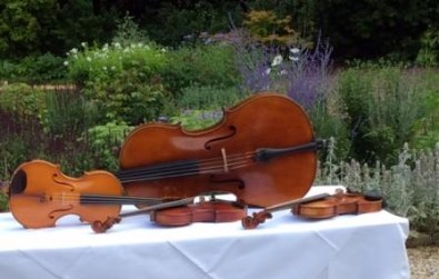 Cotswold Ensemble String Quartet reception music at Lords of the Manor, Gloucestershire