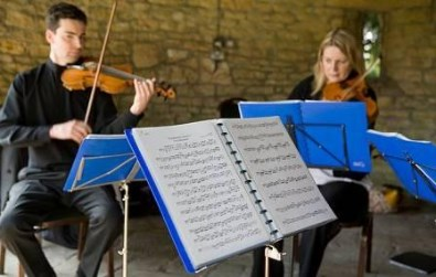 Cotswold Ensemble's String Quartet wedding music at Stonehouse, Glocs.