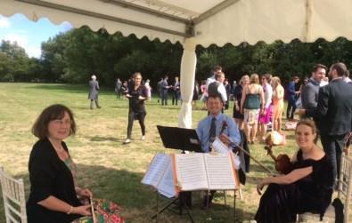 Cotswold Ensemble's String Quartet at Newbridge, Standlake, Oxon