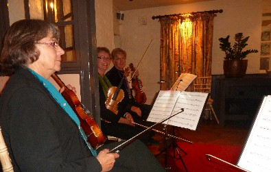Cotswold Ensemble String Quartet at the Bay Tree Hotel, Burford, Oxon