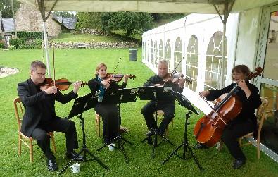 Cotswold Ensemble String Quartet at Wishanger Manor, near Stroud, Glocs