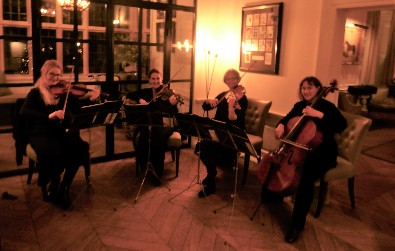 Cotswold Ensemble' String Quartet wedding at Lower Slaughter Manor, Gloucestershire