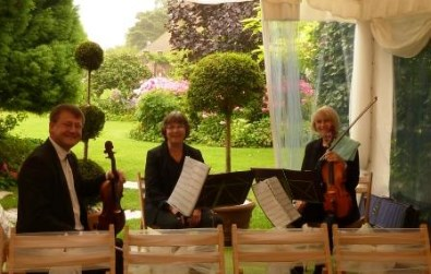 Cotswold Ensemble String Quartet wedding music at Parley Manor, New Forest, Hampshire