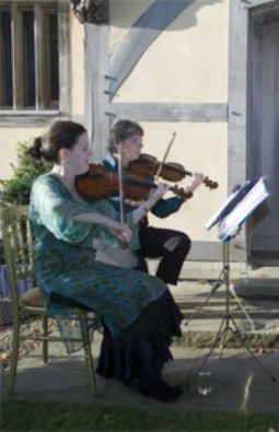 Cotswold Ensemble's String Quartet music at a ball near Wallingford, Oxon