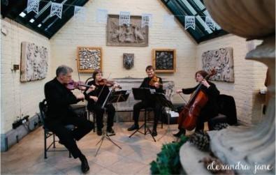 Cotswold Ensemble's String Quartet at Waddesdon Dairy, Buckinghamshire (NT)