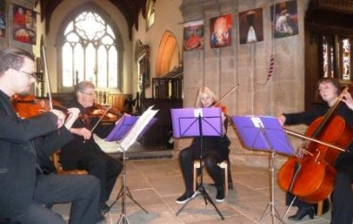 Cotswold Ensemble String Quartet wedding music at Wantage, Oxon, February 2016
