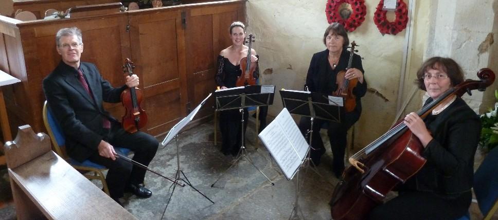 The Cotswold Ensemble String Quartet near Whitchurch, Bucks.