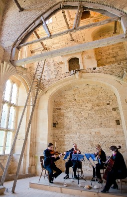 Cotswold Ensemble's String Quartet wedding music at Woodchester Mansion, Gloucestershire.